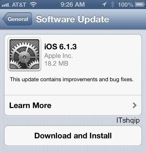 iOS perditesimet ITshqip
