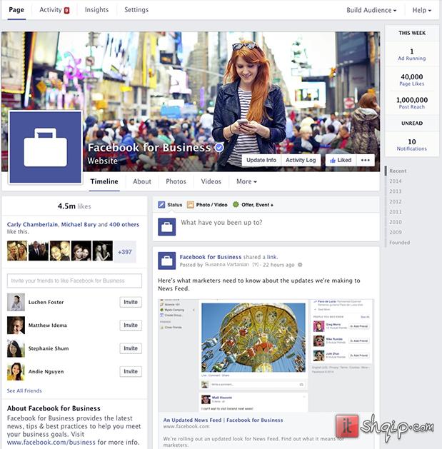 Edhe Facebook Pages me dizajn të ri