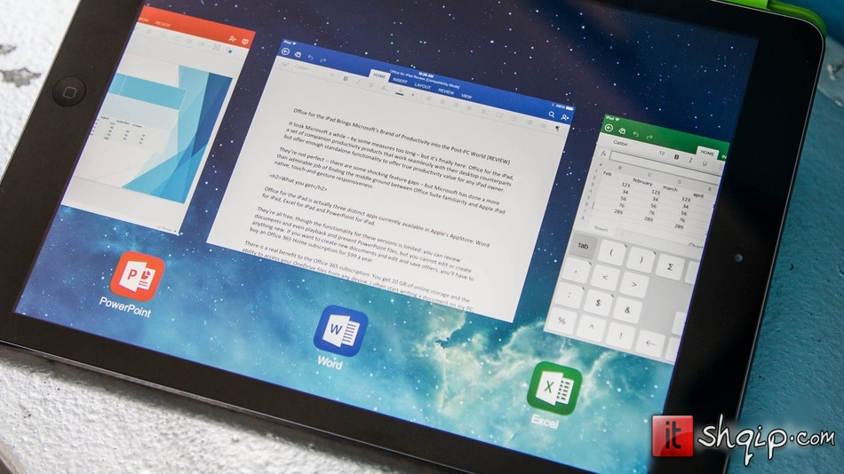 Microsoft Office për iPad dominon në vendin e parë në AppStore