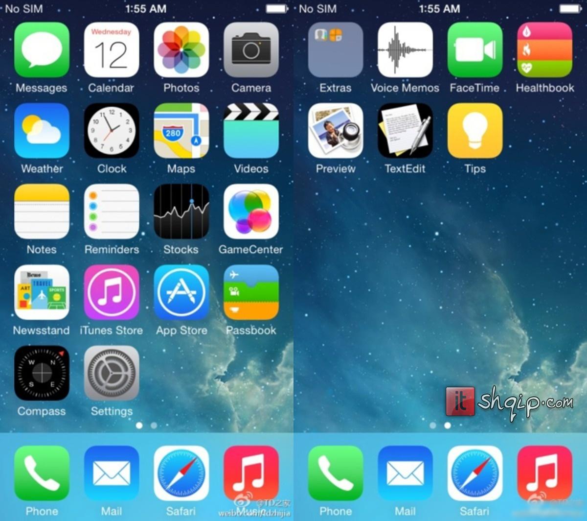 RrjedhinPamjet e para të iOS 8