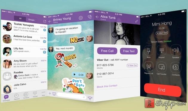 Viber sjell dizjan të ri në iOS